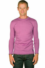 Ugholin Pull Homme Fin Col Rond Parme Manches Longues