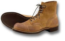 RED WING SHOES 8113 IRON RANGER WORK BOOTS, TAN SUEDE [72207]