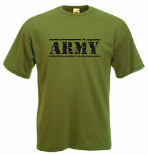 ARMY T-SHIRT MILITARY FORCES COMBAT RETRO 12 COLOURS 8 SIZES NEW