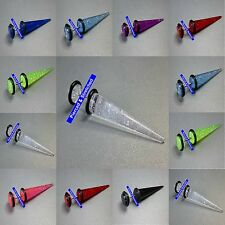 8mm Fake Glitter Stretchers Plugs Earrings Cheater Tapers 8 Colours available