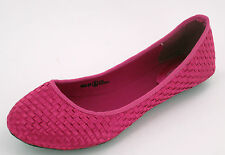 Ladies Spot on Pink weave Effect slip on Dolly shoes F8766