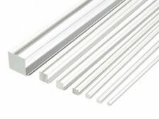SQUARE CLEAR ACRYLIC ROD SOLID PERSPEX BAR PROFILE 500MM LONG LENGTHS