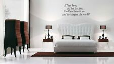 Snow Patrol Lyrics If I lay here wall art sticker Decal