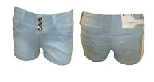 J14 NEW WOMENS DENIM SHORTS LADIES HIPSTER HOT PANTS IN SIZE 06-16