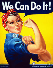 Rosie the riveter, iron on t shirt transfer or sticker , WWII feminism