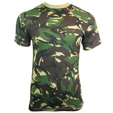 BRITISH ARMY DPM CAMO / CAMOUFLAGE MILITARY T-SHIRT - All Sizes Cotton Top