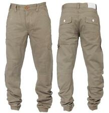 MENS NEW ETO JEANS DESIGNER EM207 BEIGE CUFF CHINOS *REDUCED BARGAIN SALE PRICE*