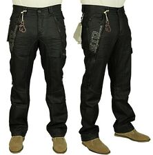BRAND NEW MENS ETO DESIGNER BLACK COATED JEANS     BARGAIN REDUCED SALE PRICE