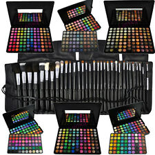 88 96 120 Lidschatten Palette + 7 15 21 32 Pinsel Set Kosmetik Make UP EYESHADOW