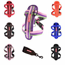 EzyDog Harness Chest Plate Reflective with Seatbelt Attachment All colours/sizes