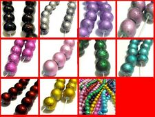 80cm Strand Drawbench Round Beads - 6mm / Approx 135 beads