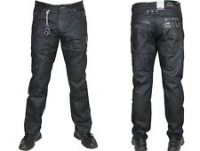 MENS NEW EM126 ETO DESIGNER BLACK-COATED JEANS *REDUCED BARGAIN PRICE*