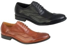 MENS ITALIAN DESIGNED BROGUES FORMAL OXFORD LACE UPS FAUX LEATHER SHOES SIZ 7-12