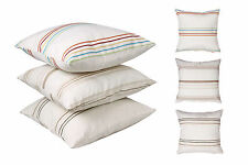 "Cotton SMITH STRIPE Filled Cushions or Cushion Covers in 3 COLOURS - 18"" / 45 cm"