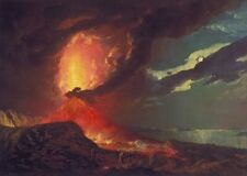 Vesuvius Eruption With View Over Islands Bay Naples Joseph Wright 1776 Poster 20