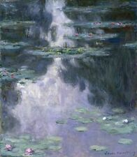 Water Lilies Nympheas Monet Claude Unknown Repro Art Photo/Poster Print Satin/Ca