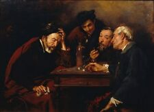 Dice Players Simo Gomez 1874 - Art Photo / Poster Repro Print Many Sizes  A0/85c