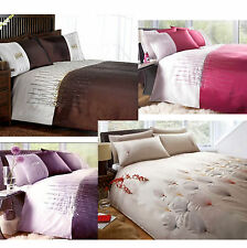 3PC Applique con Paillettes & ricamato Biancheria da letto Set copripiumino in 4