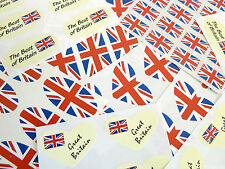 British Union Jack Flag Stickers Great Britain Labels - Various Shapes & Sizes