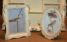 Vintage Chic Photo Frame Oval Rectangle Boroque Shabby Cream Picture Wedding