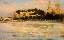 Photo/Poster - Palace Of Popes And Pont D'Avignon - Beckwith Jas C 1852 1917