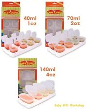 BABY WEANING PUREE FOOD STORAGE POTS CUBES CONTAINERS TRAYS & LIDS BPA FREE