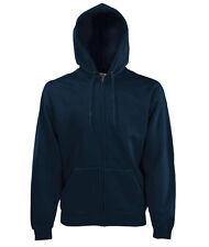 Felpa Zip Cappuccio/Hooded FRUIT OF THE LOOM Blu Notte
