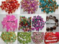 Pink Green Blue Red Amber Coffee Lemon Crackle Glass Beads size 4mm 6mm 8mm 16mm