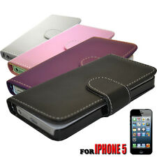 4 Colour Side Opening Wallet Pu Leather Phone Case Cover For Iphone 5 5S