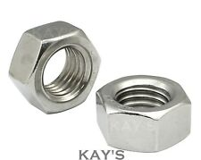 HEXAGON FULL NUTS A4 MARINE GRADE 316 STAINLESS STEEL M3,M4,M5,M6,M8,M10,M12