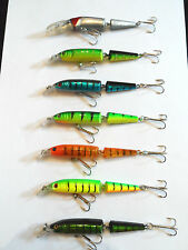 10.5cm rattling jointed minnow lure - pike, salmon, sea trout, bass