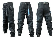 BRAND NEW BOYS EB351 ETO BRAND DARKWASH CUFFED JEANS. SIZES 24-29   SALE PRICE