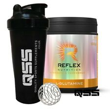 REFLEX NUTRITION L - GLUTAMINE 500 G AMINO ACIDS MUSCLE VOLUME GROWTH + SHAKER