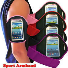 4 COLOUR SPORT CYCLING GYM ARMBAND WITH STRAP FIT SAMSUNG GALAXY S4 I9500 I9505
