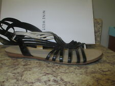 Nine West Whatnot Strappy Sandals  Black Leather New with Box