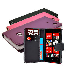 3 COLOUR WALLET BOOK FLIP PU LEATHER PHONE CASE COVER FOR NOKIA LUMIA N720 720