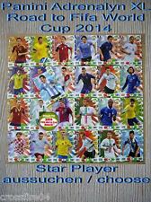 Panini Adrenalyn Road to World Cup 2014 Brazil  Star Player aussuchen /  choose