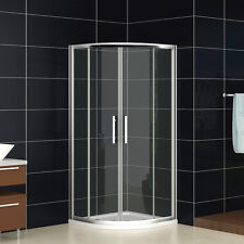 Quadrant Shower Enclosure Bathroom Walk In Glass Cubicle Screen Door Stone Tray