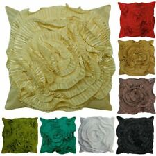 "Ruffle Frill Floral Rose 3D Effect Cushion Covers or Filled Cushions 17"" / 43cm"
