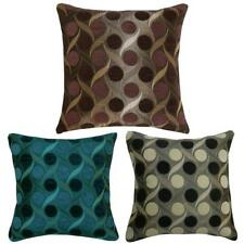 "Thick Chenille Retro Circle Design Filled Cushions or Cushion Covers 17"" / 43cm"
