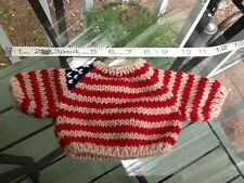 New Teddy Bear and Doll Clothing Holiday Sweater Patriotic