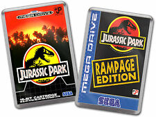 JURASSIC PARK JP RAMPAGE EDITION Sega Megadrive Game Cover Art Fridge Magnet