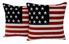 USA American Flag Stars & Stripes Chenille Cushion Covers or Filled Cushions