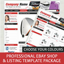 Professional Ebay Shop / Store and Listing Template Package - Dynamic Categories