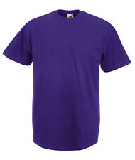 T-shirt Uomo PORPORA/PURPLE Maglietta/Maglia FRUIT OF THE LOOM Short Sleeves