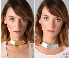 Celebrity Cool Vintage Rock Aztec Chic Choker Chunky Gold Silver Collar Necklace