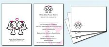 Personalised Civil Partnership Wedding Invitations  Brides Kiss D032
