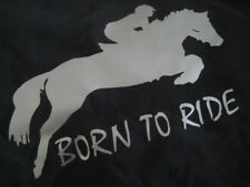 personalised born to ride pony / horse hoodie