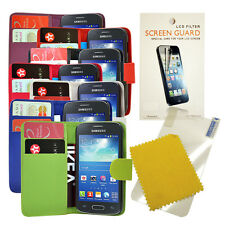 FOR SAMSUNG GALAXY ACE 3 s7270 s7272 s7275 FLIP CASE COVER + Screen Protector