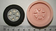 SILICONE MOULD CAR ALLOY TYRE WHEEL MECHANIC SPARK PLUG ICING CUPCAKE CRAFT FIMO